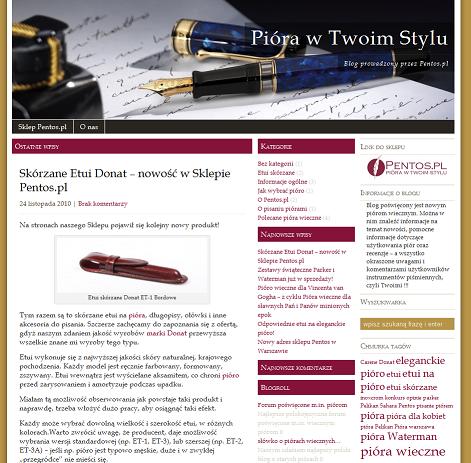 pentos blog