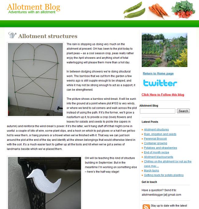 allotment blog