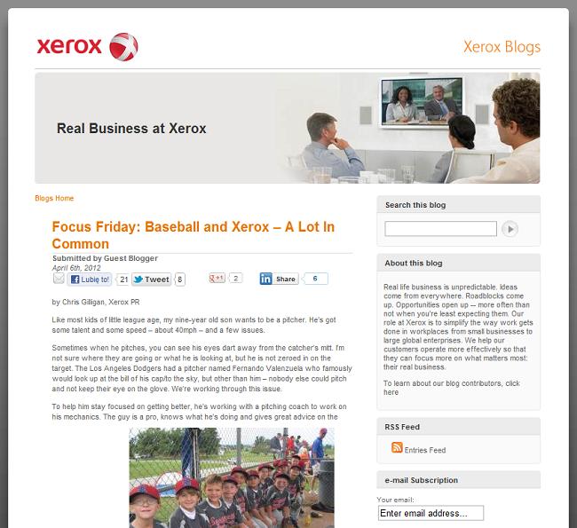 blog xerox