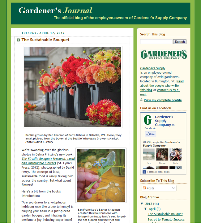 gardeners blog