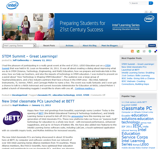 intel students blog