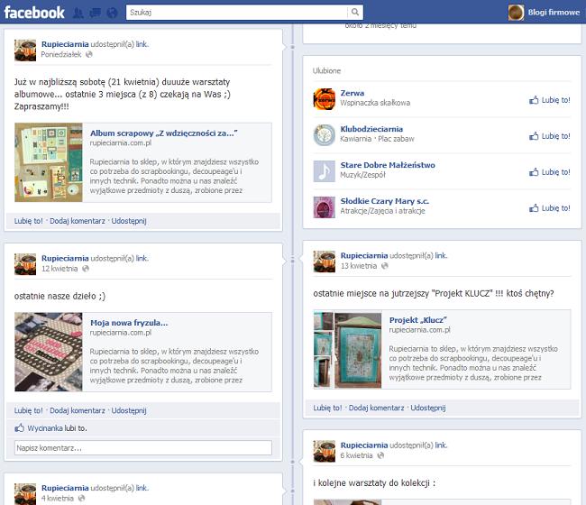 rupieciarnia na facebooku